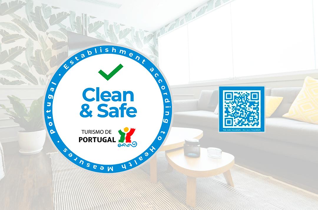 QR code Clean Safe Stamp